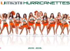 The University of Miami Hurricanettes Dance Team